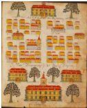 Une page du manuscrit représentant Boston